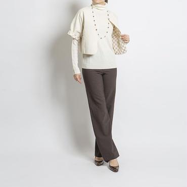 シルク リバーシブル ショートジャケット ホワイト ソリッド  RASA