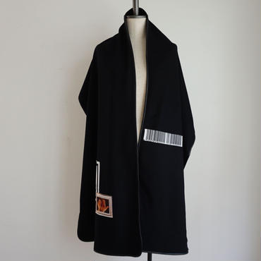 【予約終了】thomas magpie soft wool stole black