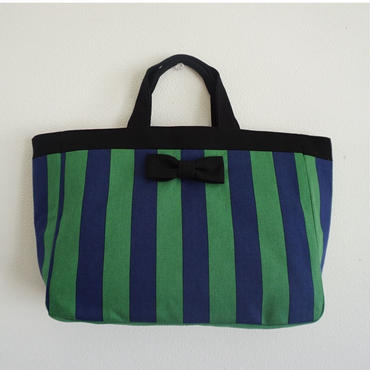 【online store 限定】town mini tote striped green