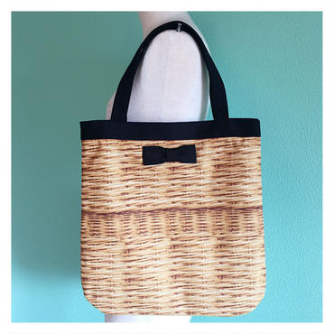 【onlinestore限定】medium tote fake basket black