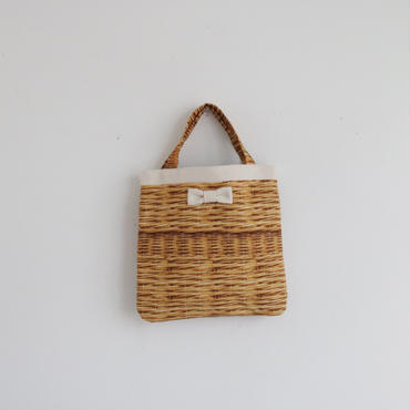 【onlinestore限定】small tote fake basket milk