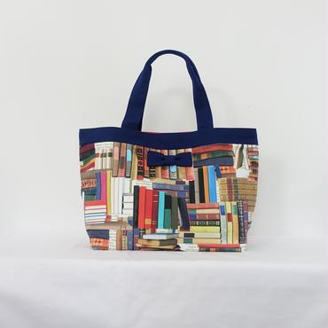 【販売開始】basic tote book worm royal blue