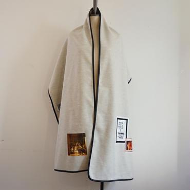 【新作・即売品】thomas magpie soft wool stole light grey