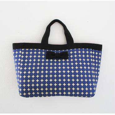 town mini tote dots royal blue