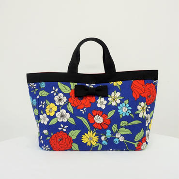 town mini tote 70's flower blue