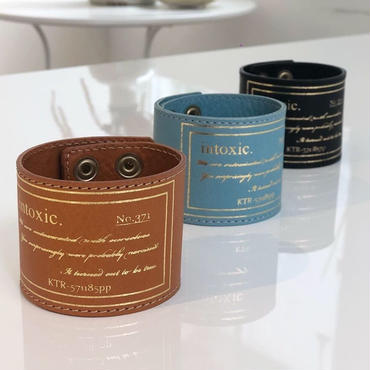 happiness leather cuff caramel