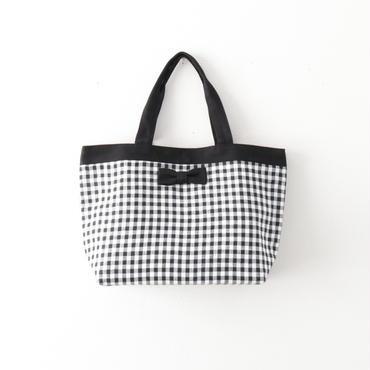 完売【2018 SS】basic tote  gingham black
