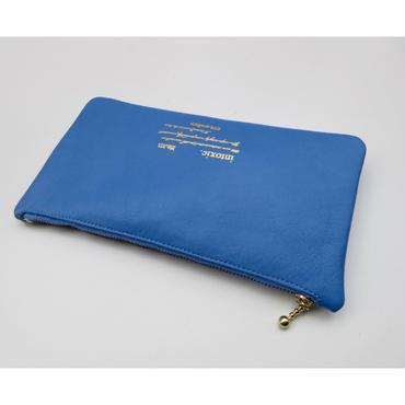 leather billfold blue