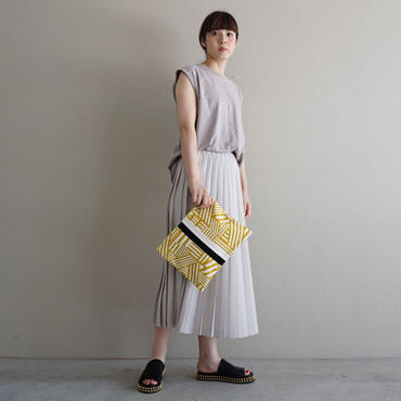 urban line mini clutch geometric yellow