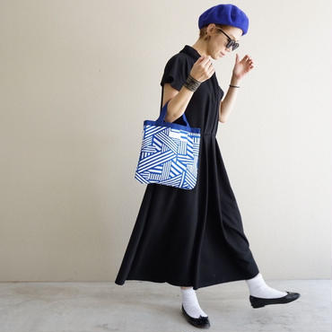 small tote geometric blue 限定ライナー