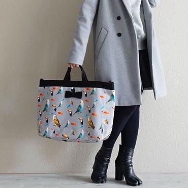 【original textile】adjust strap tote chemicalbirds grey