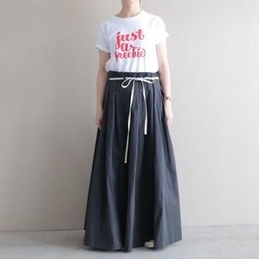 【予約終了】thomas magpie peach skin long skirt  sumi kuro
