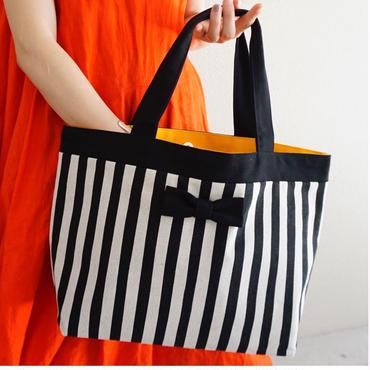 basic  tote  stripes black