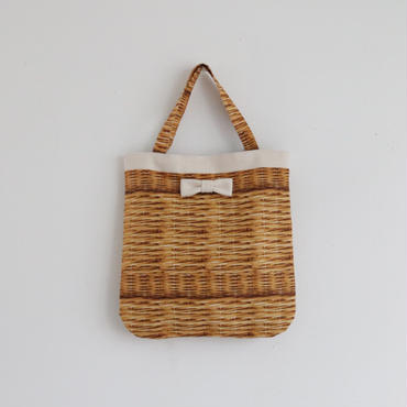 【onlinestore限定】medium tote fake basket milk