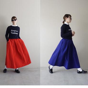 【予約終了】thomas magpie nylon flared skirt