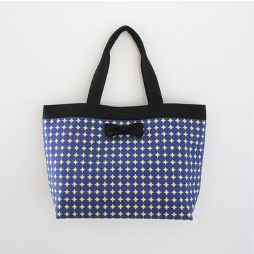 basic tote dots royal blue