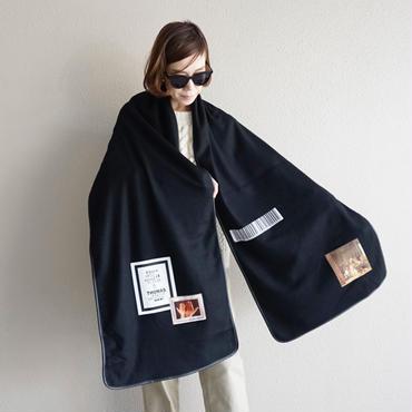 【完売】thomas magpie soft wool stole black