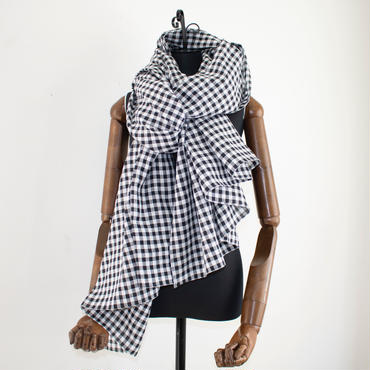big stole gingham black