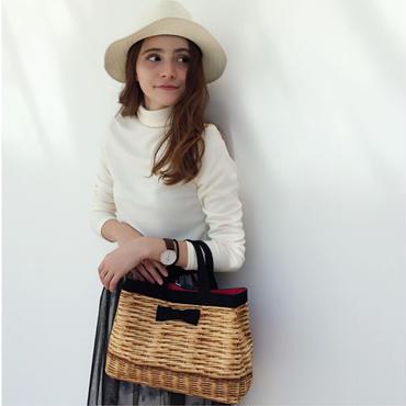 town mini tote fake basket black