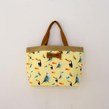 【original textile】basic tote chemicalbirds yellow