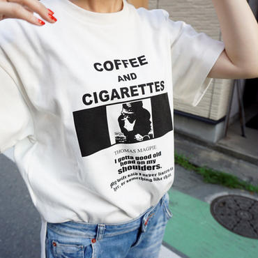 ※ 先行予約【2018 SS】thomas magpie T Coffee white
