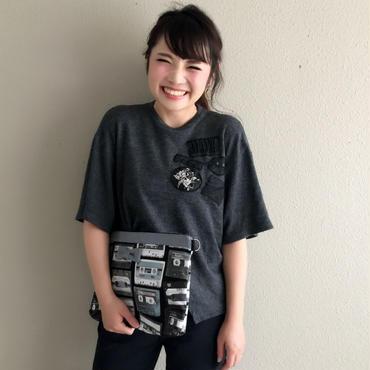 clutch bag tapes black