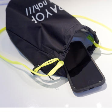 新作 drawstring bag black