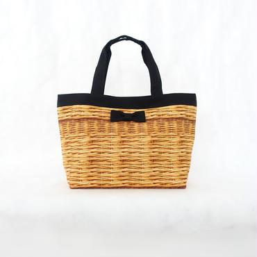 basic tote fake basket black