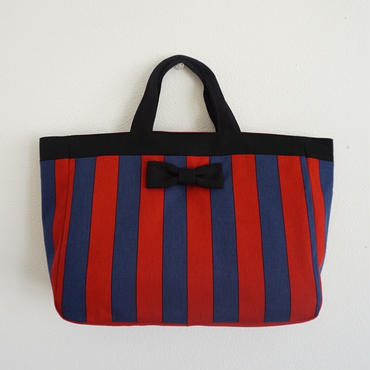 【online store 限定】 town mini tote striped red