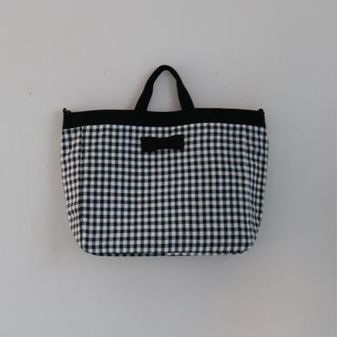 【2018 SS】adjust strap tote gingham black