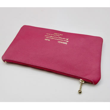 leather billfold toxic pink