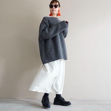 【予約終了】thomas magpie deformation knit grey