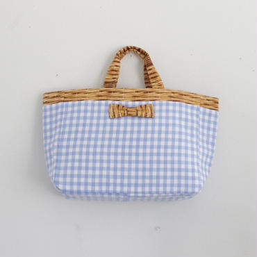 完売【2018 SS】town mini  gingham blue