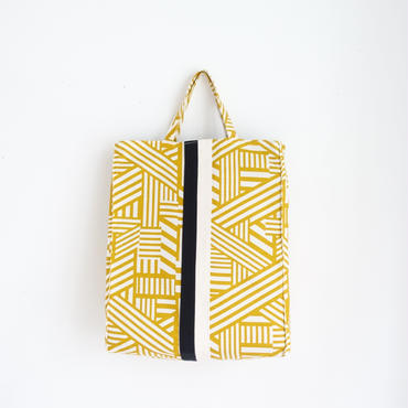 urban tote  geometric yellow
