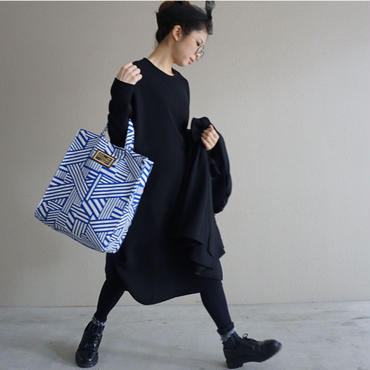 urban tote geometric blue