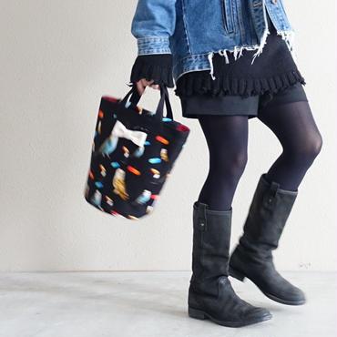 【新作・original textile】mini penelophia chemicalbirds black