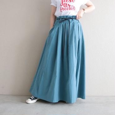 【予約終了】thomas magpie peach skin long skirt saxe