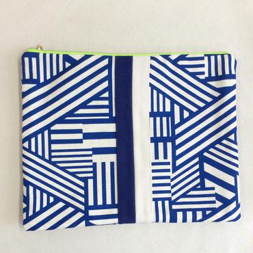 urban line mini clutch geometric blue