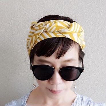 head dress geometric mustard