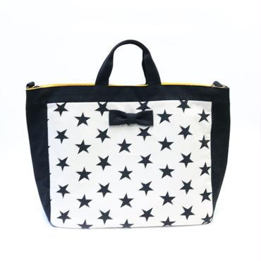 adjust strap tote stars mono
