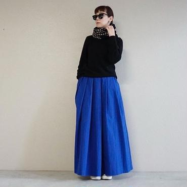 【即売品】thomas magpie long skirt royal blue Ssize