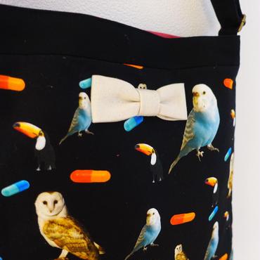 【original textile】skipton chemicalbirds black