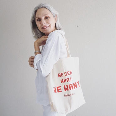 intoxic.eco bag we see what we want