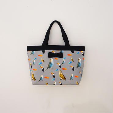 【original textile】basic tote chemicalbirds grey