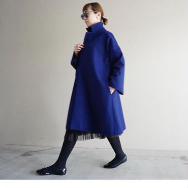 【予約終了】thomas magpie super 100's melton coat blue