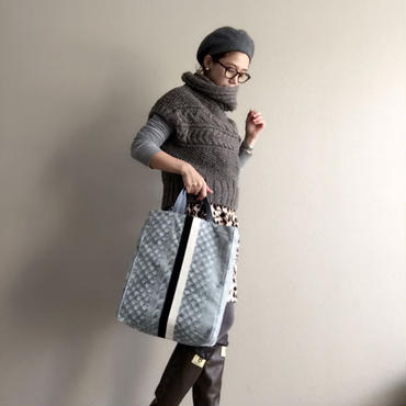 【online store限定】urban tote fake knit grey