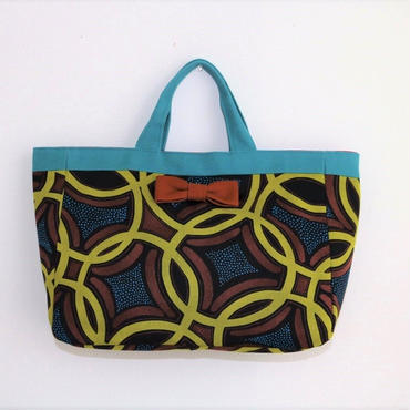 【再入荷】town mini tote Afrotec yellow