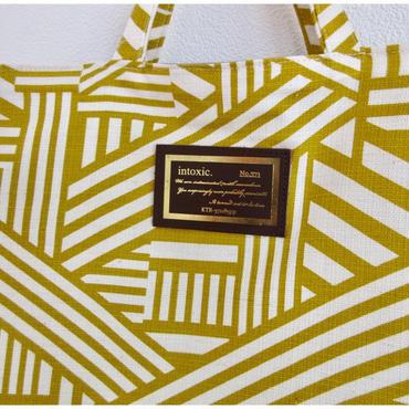 urban tote  geometric yellow