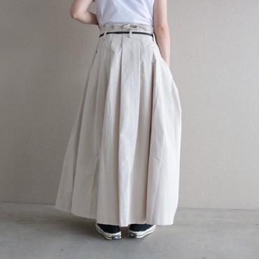【予約終了】thomas magpie peach skin long skirt  white