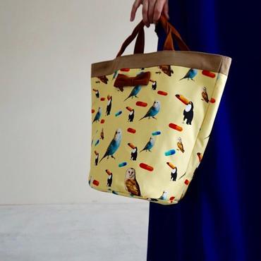 【新作・original textile】penelophia chemicalbirds yellow